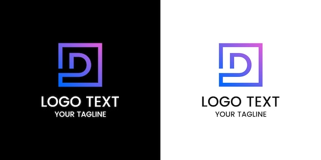 Design do logotipo da letra d