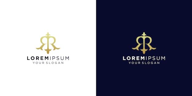 Design do logotipo da letra do monograma rr