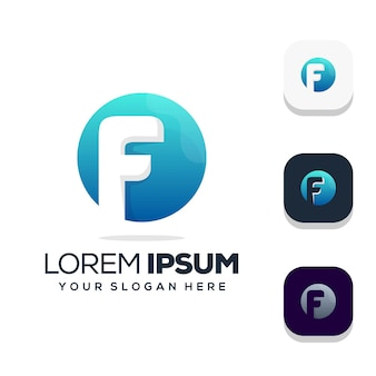 Design do logotipo da letra f