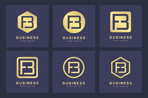 Design do logotipo da letra fb inicial.