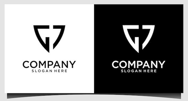 Design do logotipo da letra gj