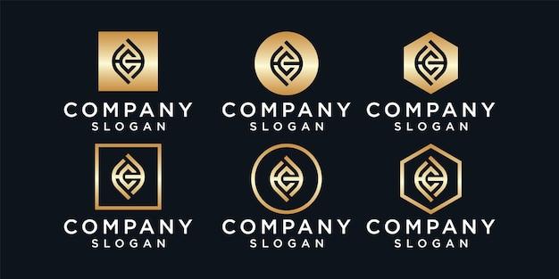 Design do logotipo da letra hc