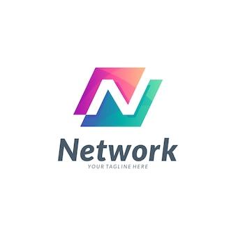 Design do logotipo da letra inicial n
