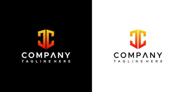 Design do logotipo da letra jc