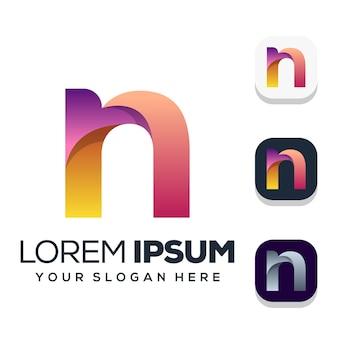 Design do logotipo da letra n