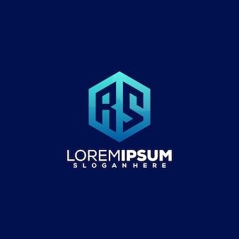 Design do logotipo da letra rs