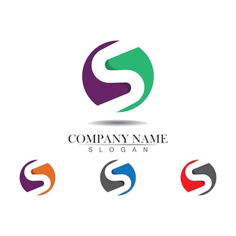 Design do logotipo da letra s corporativa da empresa