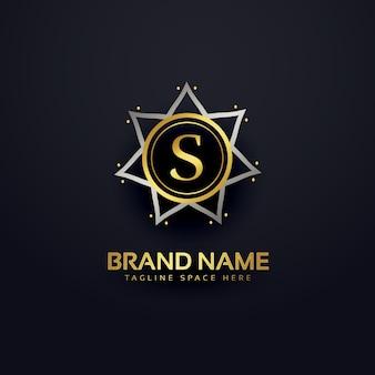 Design do logotipo da letra s em estilo premium