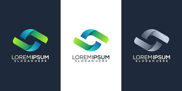 Design do logotipo da letra s