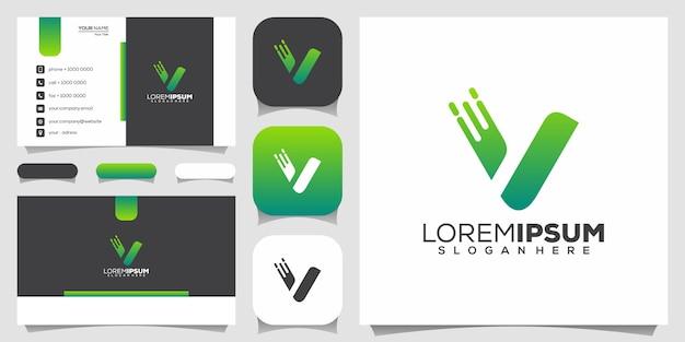 Design do logotipo da letra v