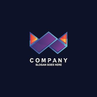 Design do logotipo da letra w