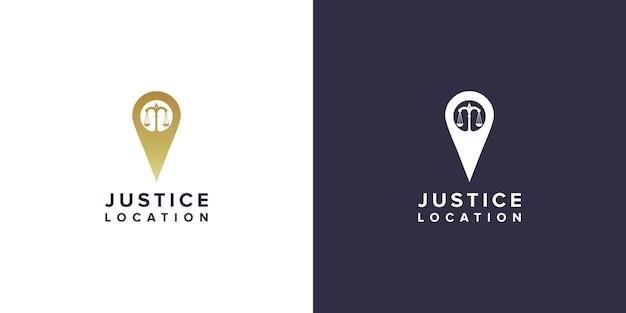 Design do logotipo da localização do advogado