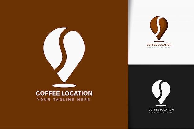 Design do logotipo da localização do café