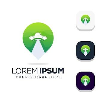 Design do logotipo da localização ufo