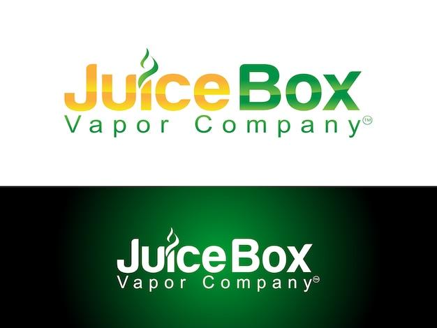 Design do logotipo da loja de varejo e- cig e e- liquid