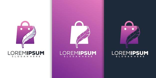 Design do logotipo da loja e da pena