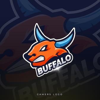 Design do logotipo da mascote buffalo