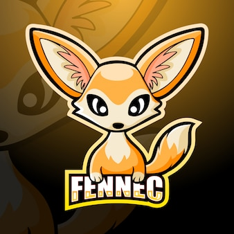 Design do logotipo da mascote da raposa fennec