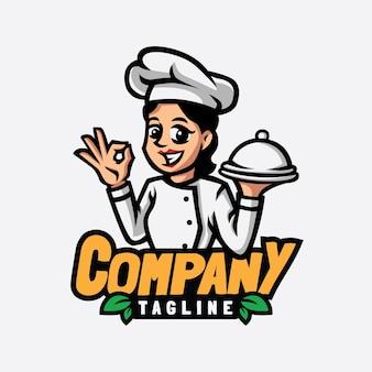 Design do logotipo da mascote do chef