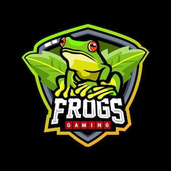 Design do logotipo da mascote sapo esport