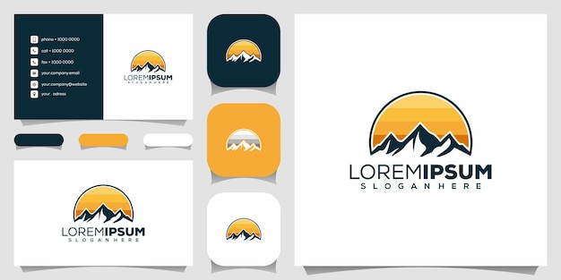 Design do logotipo da montanha