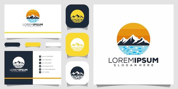 Design do logotipo da montanha