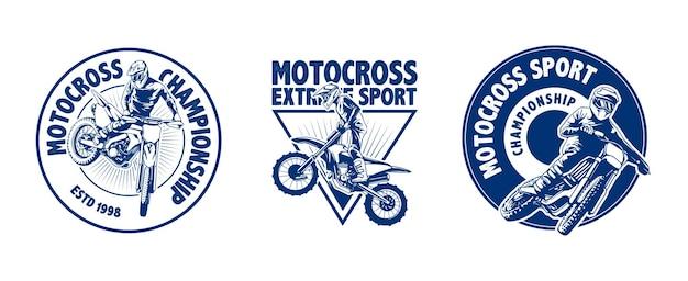 Design do logotipo da motorcross