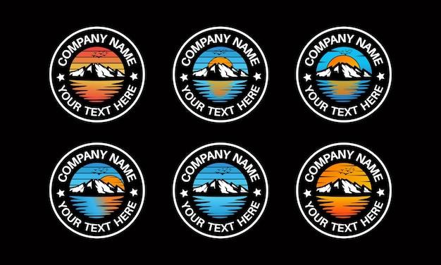 Design do logotipo da mountain and travel