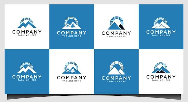 Design do logotipo da mountain signal