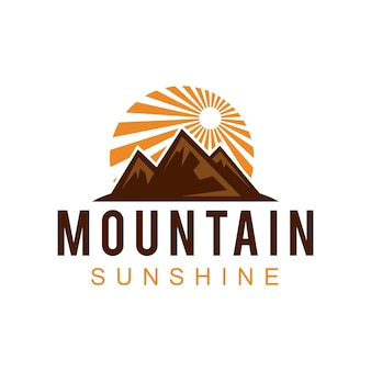 Design do logotipo da mountain sunshine