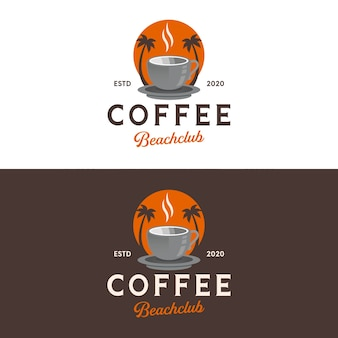Design do logotipo da praia do café