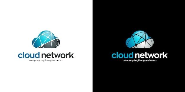 Design do logotipo da rede em nuvem