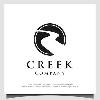 Design do logotipo da road river creek
