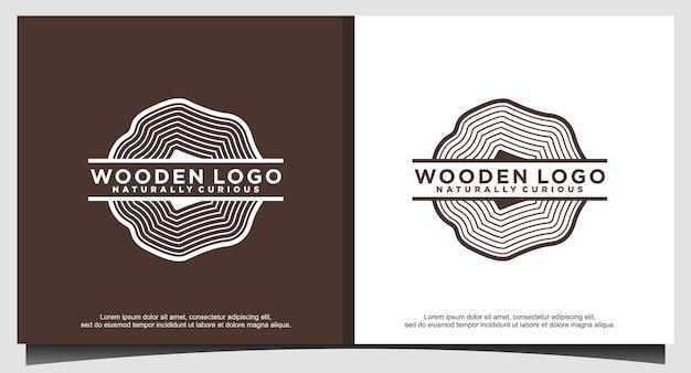 Design do logotipo da serraria de madeira