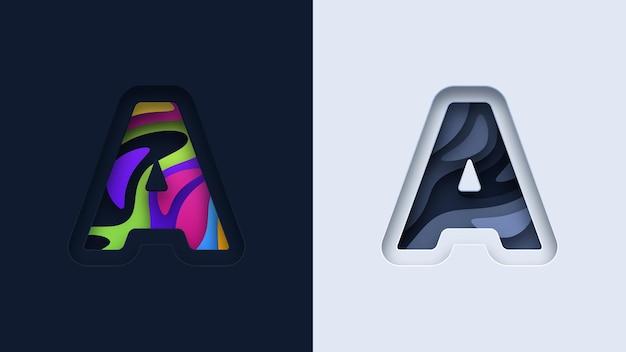 Design do logotipo da tipografia da letra a