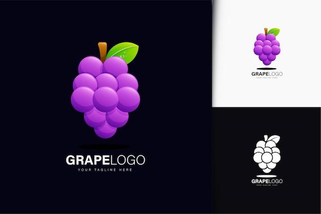 Design do logotipo da uva com gradiente