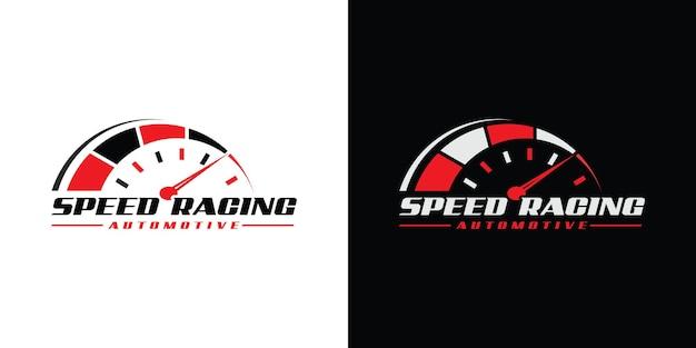 Design do logotipo da velocidade rpm para empresa automotiva