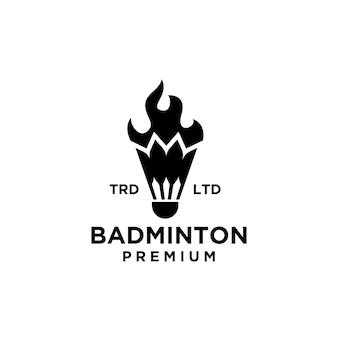 Design do logotipo da volante premium em chamas