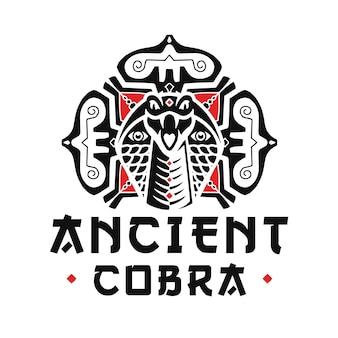 Design do logotipo das artes marciais cobra