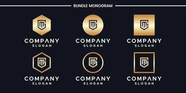 Design do logotipo das iniciais gm