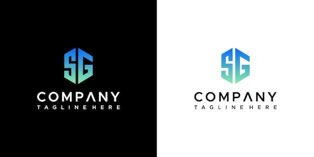 Design do logotipo de iniciais sg