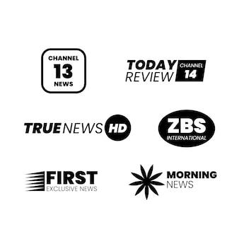 Design do logotipo de notícias