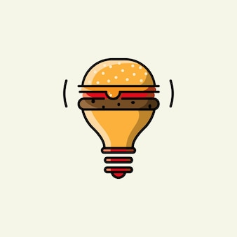 Design do logotipo do abajur de hambúrguer