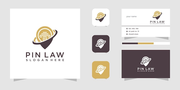 Design do logotipo do alfinete de lei
