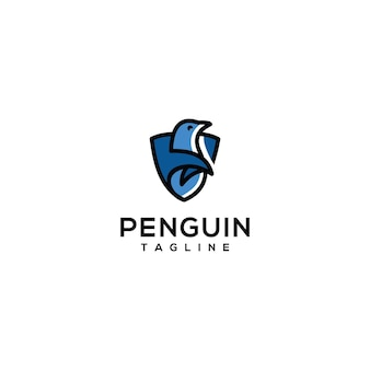 Design do logotipo do animal pinguim