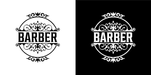 Design do logotipo do barbeiro