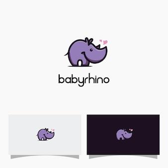 Design do logotipo do bebê rinoceronte