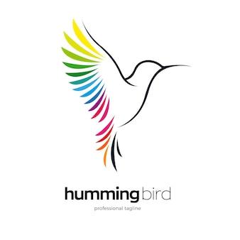 Design do logotipo do beija-flor