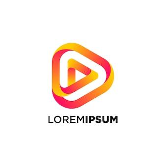 Design do logotipo do botão play