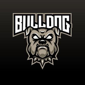 Design do logotipo do bulldog mascote esport